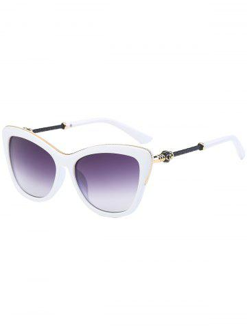 Latest Butterfly Design Metallic Inlay Frame Anti UV Sunglasses - WHITE  Mobile