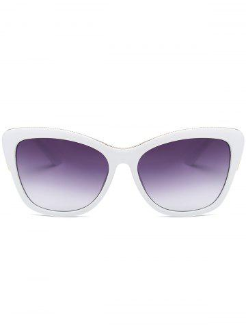 Outfits Butterfly Design Metallic Inlay Frame Anti UV Sunglasses - WHITE  Mobile