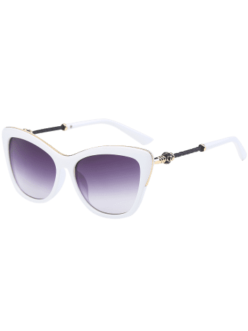 Shops Butterfly Design Metallic Inlay Frame Anti UV Sunglasses - WHITE  Mobile
