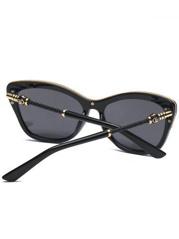 Shops Reflective Butterfly Design Metal Inlay Frame Sunglasses - BLACK+MERCURY  Mobile