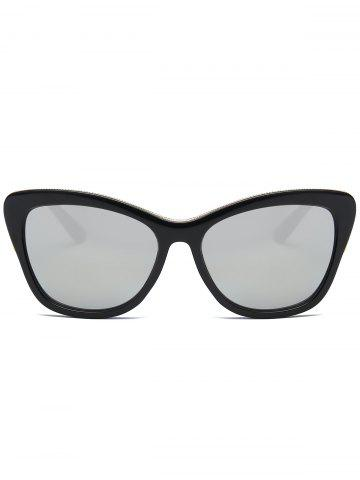 Unique Reflective Butterfly Design Metal Inlay Frame Sunglasses - BLACK+MERCURY  Mobile