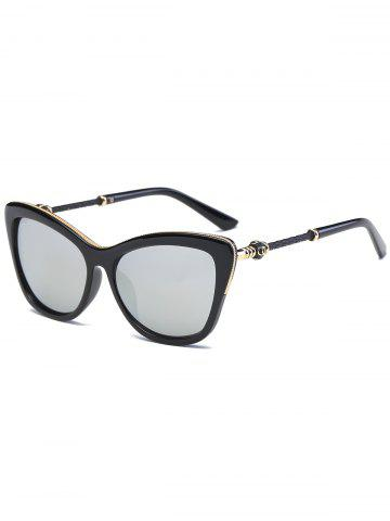 Outfits Reflective Butterfly Design Metal Inlay Frame Sunglasses - BLACK+MERCURY  Mobile
