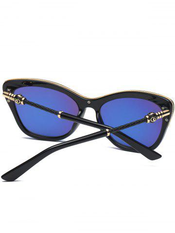 Online Reflective Butterfly Design Metal Inlay Frame Sunglasses - GOLDEN  Mobile