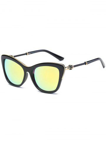 Best Reflective Butterfly Design Metal Inlay Frame Sunglasses - GOLDEN  Mobile
