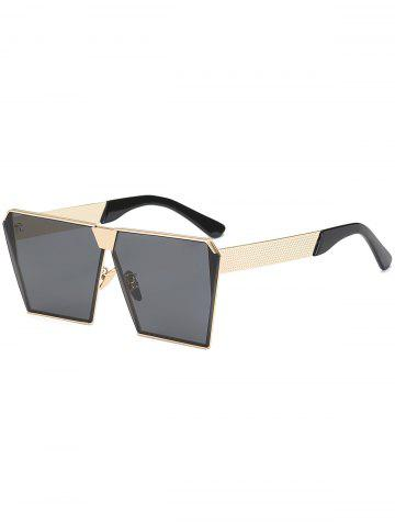 Hot Street Snap Retro Square Frame Sunglasses BLACK