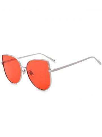 Shops Wide Cat Eye Design Gradient Color Sunglasses - RED  Mobile
