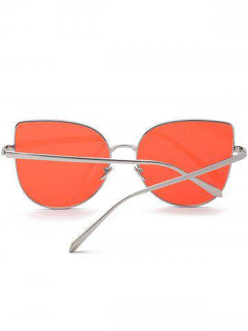 Fancy Wide Cat Eye Design Gradient Color Sunglasses - RED  Mobile