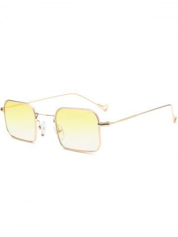 54e128a460 Yellow Asymmetrical Hollow Out Leg Ombre Rectangle Sunglasses ...