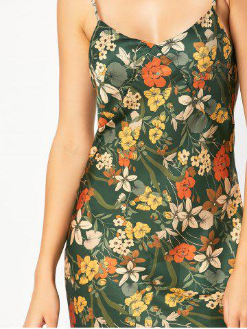 Outfit Backless Floral Hawaiian Slip Summer Dress - S GREEN Mobile
