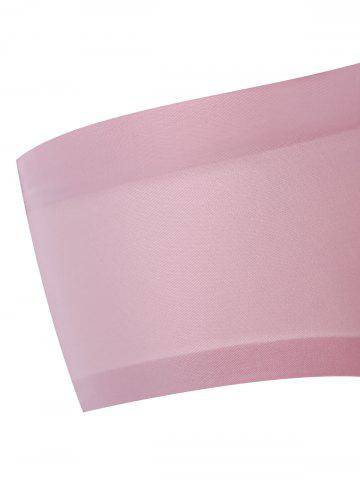 Cheap Padded Seamless Y Back Bra Set - 75A PINK Mobile