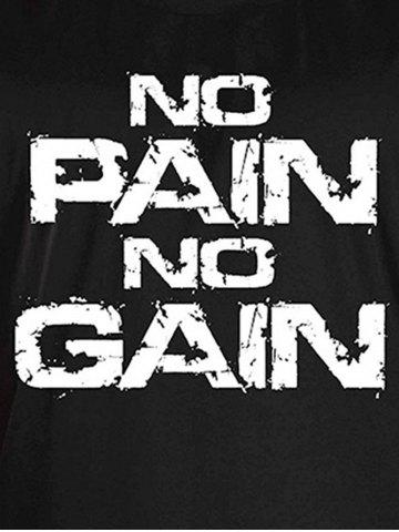 Outfits No Pain No Gain Workout Tank Top - XL WHITE AND BLACK Mobile