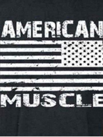 New Bodybuilding Muscle American Flag Tank Top - 2XL DEEP GRAY Mobile