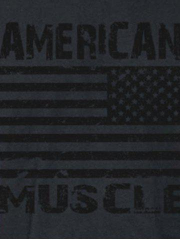 New Bodybuilding Muscle American Flag Tank Top - M BLACK Mobile