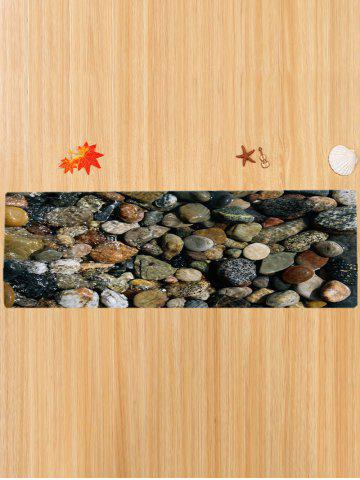 Buy Sea Stone Pattern Slow Rebound Water Absorption Area Rug - W16 INCH * L47 INCH COLORMIX Mobile