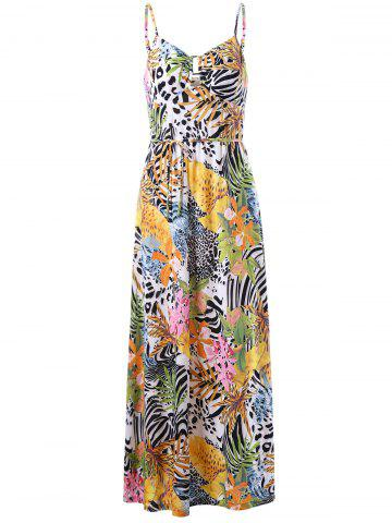 Fancy Cami Tropical Bohemian Maxi Dress COLORMIX 2XL