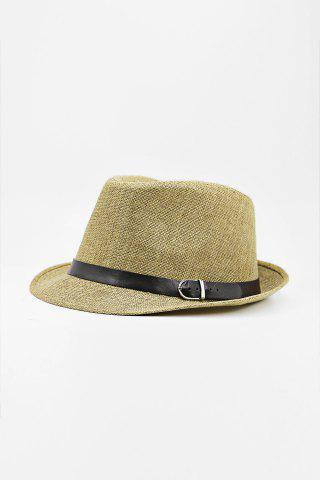 Chic Chic Belt Decorated Linen Hat For Men - COLOR ASSORTED  Mobile
