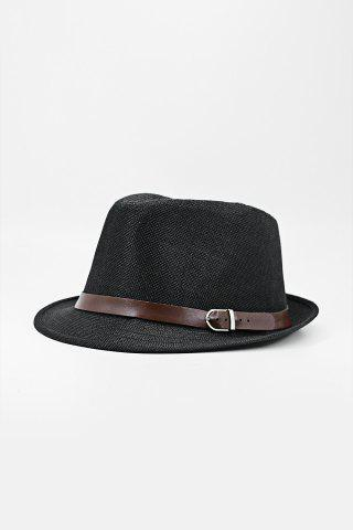 Outfits Chic Belt Decorated Linen Hat For Men - COLOR ASSORTED  Mobile