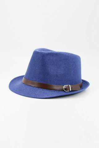 New Chic Belt Decorated Linen Hat For Men - COLOR ASSORTED  Mobile
