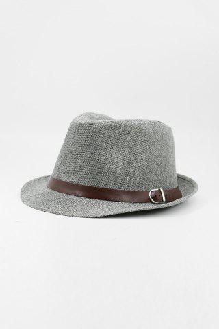 Cheap Chic Belt Decorated Linen Hat For Men - COLOR ASSORTED  Mobile