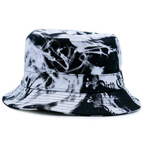 Smoke-Filled et Letters Print Bucket Hat Blanc