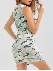 Bodycon Camo Print Tank Dress
