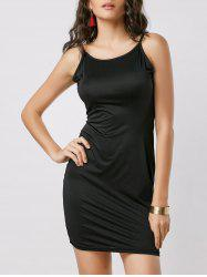 Fitted Open Back Slip Dress