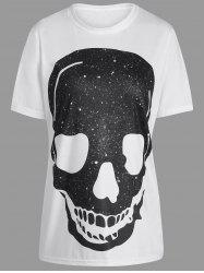 Graphic Skull Print Tunic T Shirt