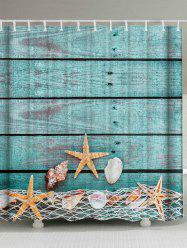 Starfish Shell Extra Long Bathroom Shower Curtain