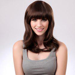Full Bang Medium Natural Straight Synthetic Wig