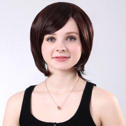 Colormix Short Side Bang Silky Straight Synthetic Wig