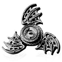 Fiddle Toy Dragon Wings Tri-bar Fidget Metal Spinner - GUN METAL