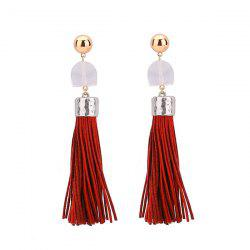 Geometric Tassel Resin Drop Earrings
