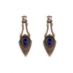 Faux Gemstone Rhinestone Gypsy Earrings