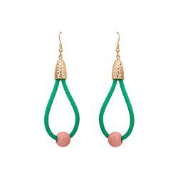 Statement Resin Bead Teardrop Hook Earrings