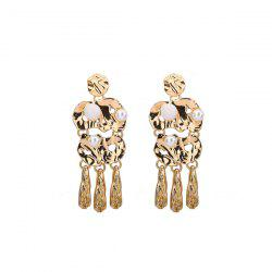 Alloy Faux Pearl Statement Earrings