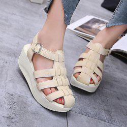 PU Leather Platform Fisherman Sandals