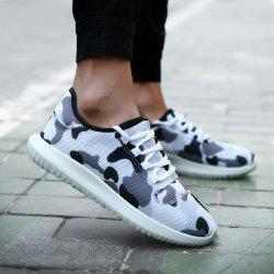 Printed Multicolor Breathable Athletic Shoes - WHITE