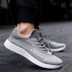 String Print Breathable Athletic Shoes