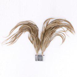 Straight Short Clip-In Micro Braids Hair Pieces