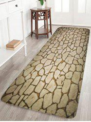 Antiskid Crack Pattern Coral Fleece Area Rug - Beige - W16inch*l47inch