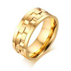 Stainless Steel Finger Circle Fidget Ring - GOLDEN