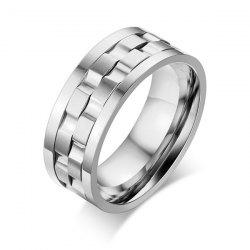 Stainless Steel Finger Circle Fidget Ring - SILVER