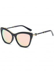 Reflective Butterfly Design Metal Inlay Frame Sunglasses - PINK
