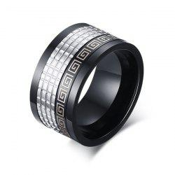Fret Pattern Fidget Spinner Finger Ring - BLACK
