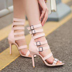 Zipper Buckle Straps Sandals