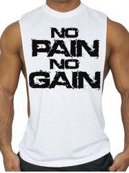 No Pain No Gain Workout Tank Top - WHITE
