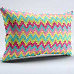 Zigzag Brushed Fabric Bedroom Pillow Case