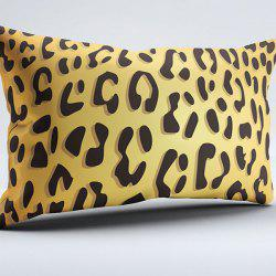 Brushed Fabric Pillow Case with Leopard Print