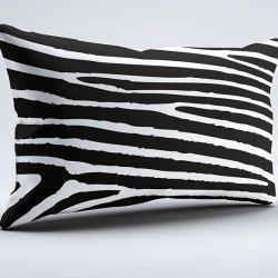 Brushed Fabric Zebra Stripe Pillow Case