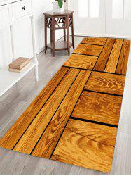 Wood Floor Pattern Water Absorption Area Rug